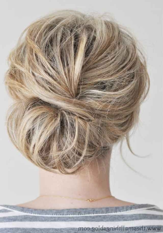 703 Best Braids & Buns Images On Pinterest | Hairstyle Ideas, Hair With Most Up To Date Soft Updos For Short Hair (View 6 of 15)