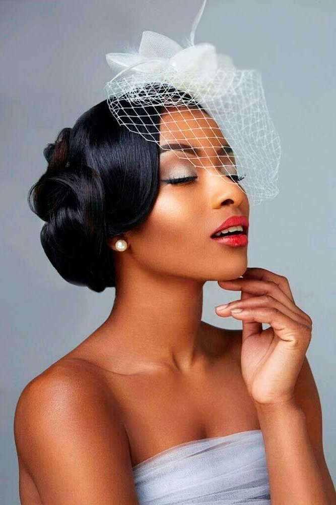 724 Best Wedding Hair, Makeup & Nails Images On Pinterest | Bridal With Regard To Latest Black Bride Updo Hairstyles (View 15 of 15)
