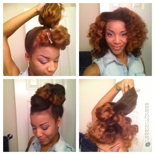 73 Best Hairstyles Images On Pinterest   Black Girls Hairstyles With Regard To Latest Updos For Long Natural Hair (View 9 of 15)
