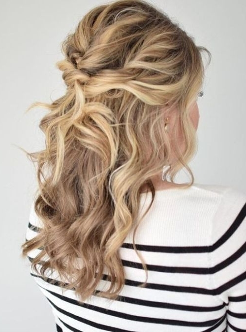 75 Cute & Cool Hairstyles For Girls – For Short, Long & Medium Regarding 2018 Curly Half Updo Hairstyles (View 5 of 15)