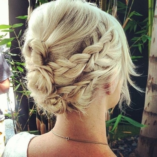 8 Best Cute Short Hair Updos/ponytails Images On Pinterest | Beauty Intended For Recent Cute Short Hair Updos (View 4 of 15)