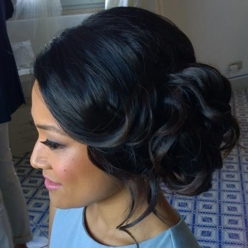 8 Best Hairstyles Images On Pinterest | Bridal Hairstyles, Wedding Intended For Most Recently Updos For Long Hair Black Hair (Gallery 2 of 15)