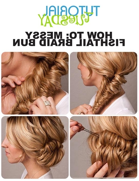 8 Easy Messy Buns For Long Hair Inside Latest Easy Updo Hairstyles For Long Thin Hair (Gallery 9 of 15)