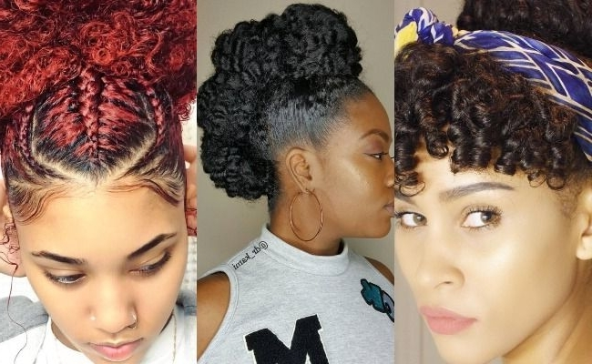 8 Gorgeous Springtime Updos For Naturally Curly Hair Regarding 2018 Natural Curly Hair Updos (Gallery 4 of 15)