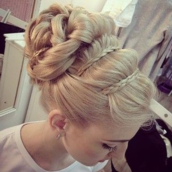 8 Romantic French Braided Hairstyles For Long Hair, You Cannot Miss Inside Most Current Updo Hairstyles With French Braid (View 7 of 15)