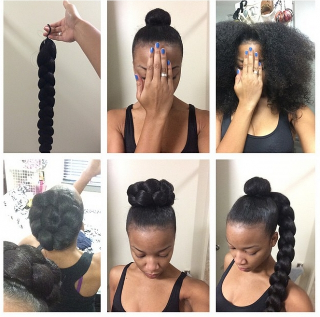 8 Updos For Natural And Curly Hair That Will Make You Feel Like The In 2018 Updo Hairstyles For Natural Hair With Weave (View 9 of 15)