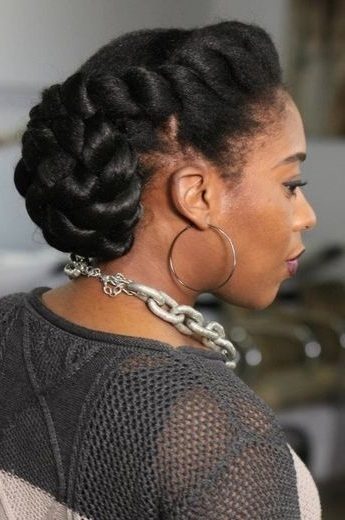 84 Best Wedding Hairstyles For Natural Hair Images On Pinterest For Most Popular Black Natural Hair Updo Hairstyles (View 6 of 15)
