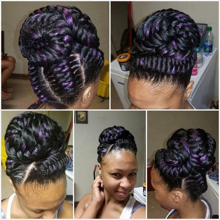 854 Best Hairstyles Images On Pinterest   Protective Hairstyles Inside Recent Black Hair Updos For Long Hair (View 9 of 15)