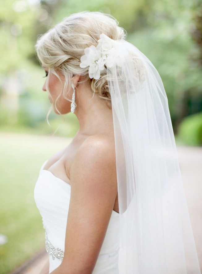 860 Best Wedding Hair Accessories Images On Pinterest | Wedding Hair Inside 2018 Wedding Updo Hairstyles With Veil (View 6 of 15)