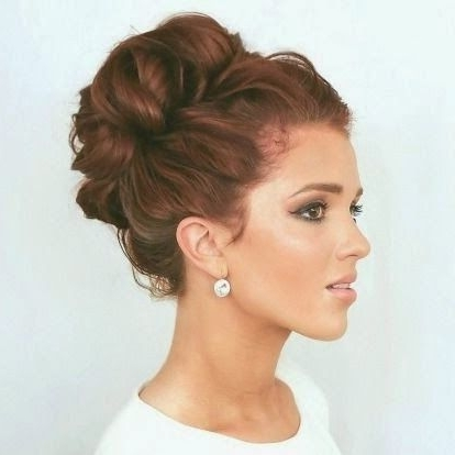 9 Best Hair Images On Pinterest | Hairstyles, Braids And Hair In Most Recently Curly Bun Updo Hairstyles (View 10 of 15)