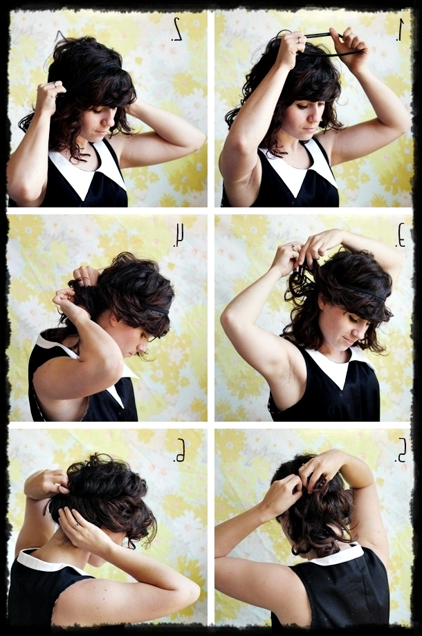 9 Cute Super Easy Updos For Short Hair – Hair Fashion Online Throughout Best And Newest Quick Easy Updo Hairstyles For Short Hair (View 4 of 15)