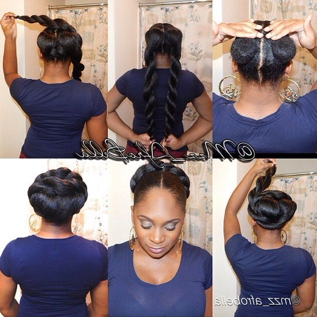 90 Best Updo Hairstyles Using Braiding Hair Images On Pinterest Regarding Most Up To Date Updo Hairstyles Using Kanekalon Hair (View 3 of 15)