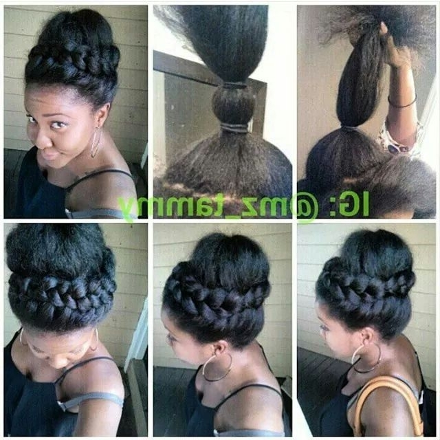 90 Best Updo Hairstyles Using Braiding Hair Images On Pinterest Regarding Newest Quick Updo Hairstyles For Natural Black Hair (View 12 of 15)