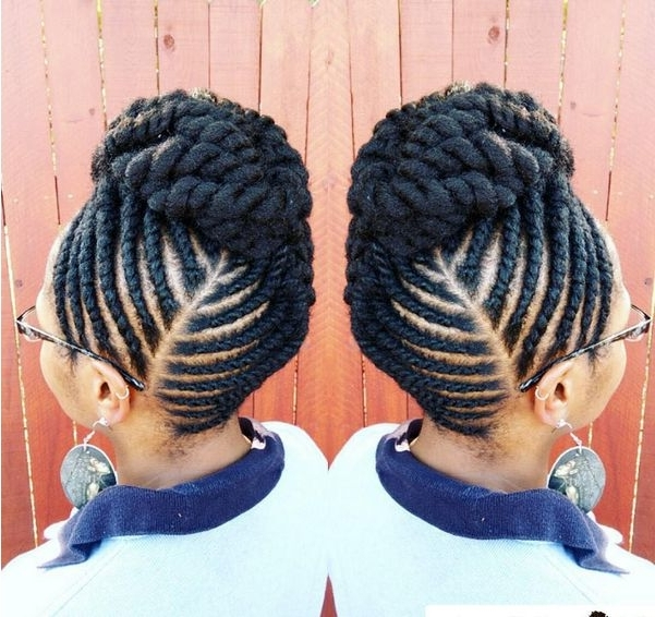 90 Best Updo Hairstyles Using Braiding Hair Images On Pinterest Throughout Best And Newest Jumbo Twist Updo Hairstyles (View 15 of 15)