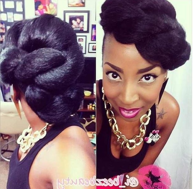 90 Best Updo Hairstyles Using Braiding Hair Images On Pinterest With Best And Newest Natural Hair Updo Hairstyles With Kanekalon Hair (View 12 of 15)