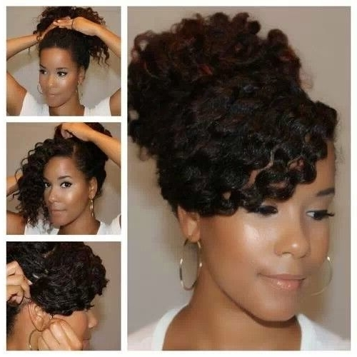 90 Best Updo Hairstyles Using Braiding Hair Images On Pinterest With Regard To Newest Updo Twist Out Hairstyles (View 13 of 15)