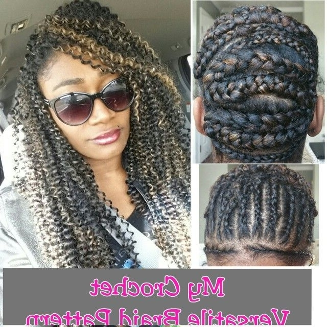 94 Best Braid Pattern For Crochet Braids Images On Pinterest Pertaining To Most Recent Crochet Braid Pattern For Updo Hairstyles (View 5 of 15)