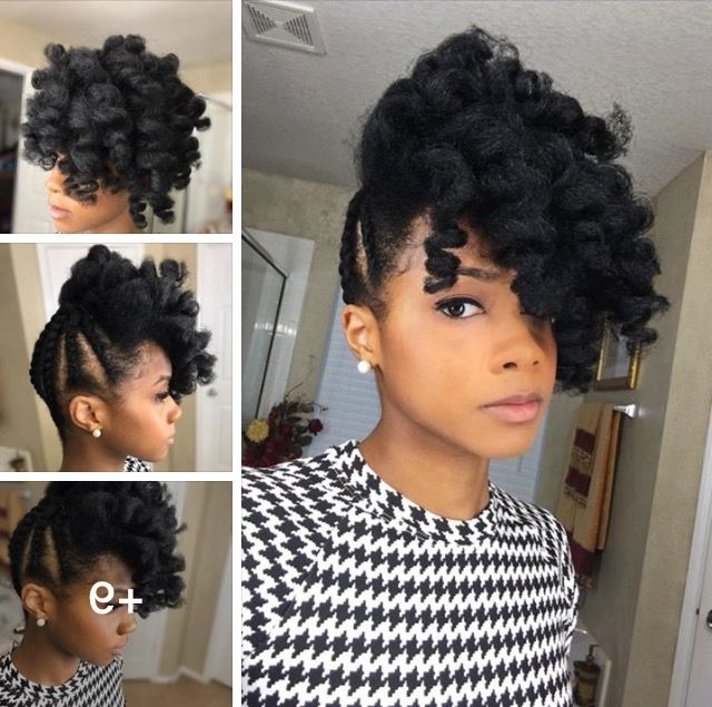 964 Best Braids, Twists, & That Updo Images On Pinterest For Current Updos Hairstyles For Natural Black Hair (View 12 of 15)