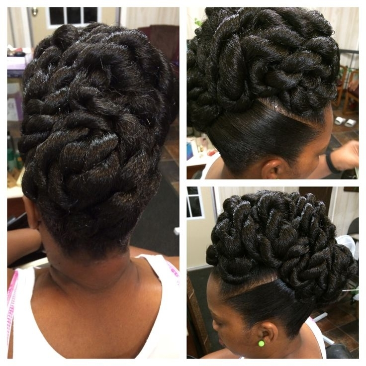964 Best Braids, Twists, & That Updo Images On Pinterest Intended For 2018 Twist Updo Hairstyles For Black Hair (View 3 of 15)