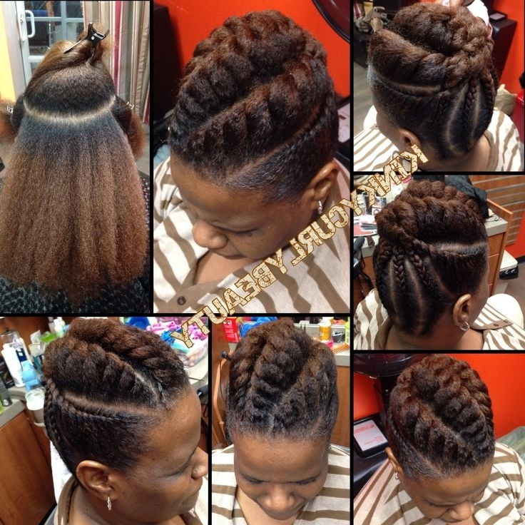 964 Best Braids, Twists, & That Updo Images On Pinterest With Regard To Most Recently Braids And Twist Updo Hairstyles (View 15 of 15)