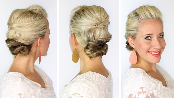 A Soft Updo For Short Hair – Twist Me Pretty Pertaining To Most Recent Soft Updos For Short Hair (View 7 of 15)