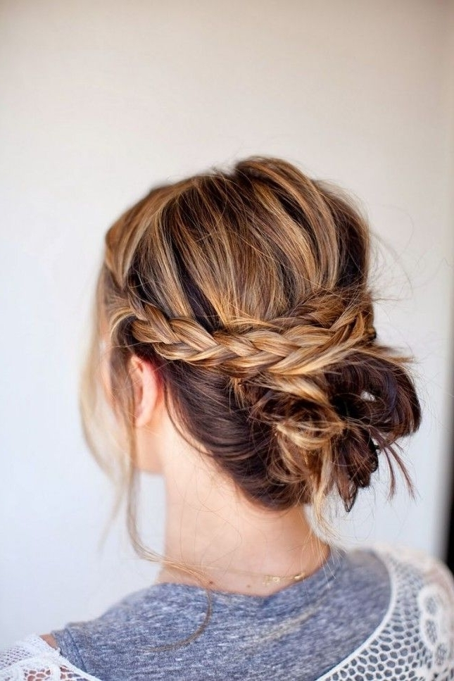 Add Crown Braids To A Low Bun To Get This Look (View 2 of 15)