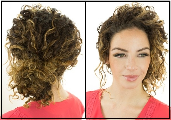 Adorably Easy Updos For Curly Hair – Curlyhair 2018 For Recent Updos For Curly Hair (View 9 of 15)
