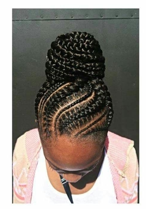 Explore Gallery Of Black Braids Updo Hairstyles Showing 3 Of 15 Photos