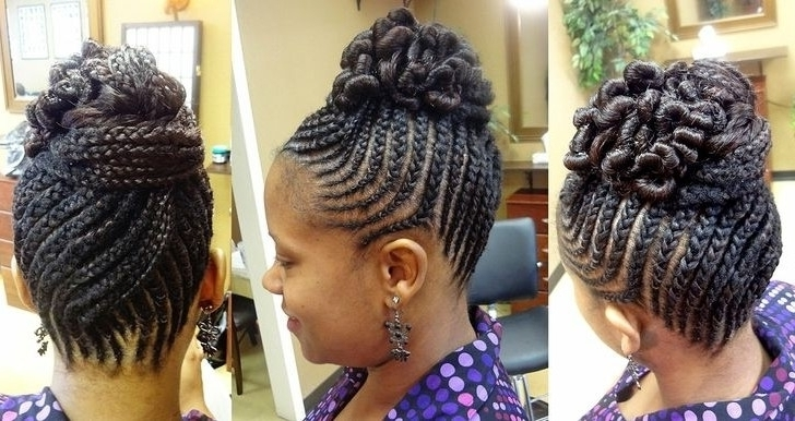 Featured Photo of Braids And Twist Updo Hairstyles