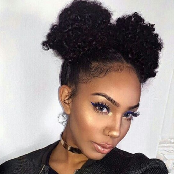 African American Natural Hairstyles For Medium Length Hair Regarding Best And Newest Updo Hairstyles For Medium Length Natural Hair (View 5 of 15)