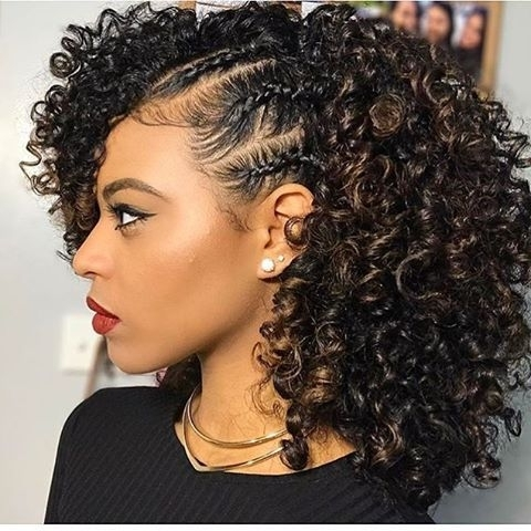 African American Natural Hairstyles For Medium Length Hair With Regard To Most Recently Natural Hair Updos For Medium Hair (View 12 of 15)