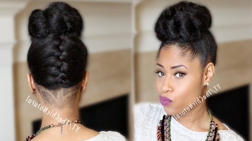 African American Natural Updo Hairstyles Braided Updo Black With Regarding Most Recent Ethnic Updo Hairstyles (View 4 of 15)