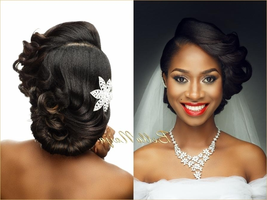 Asymmetrical Braided Updo For African American Women