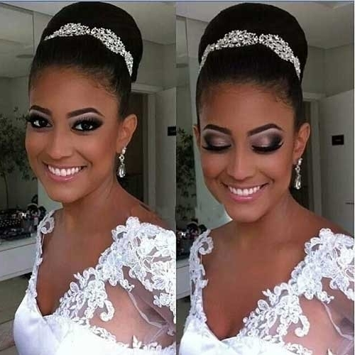 African American Wedding Updo Hairstyles Pretty 25 Good Bun Wedding In 2018 African American Updo Wedding Hairstyles (View 3 of 15)
