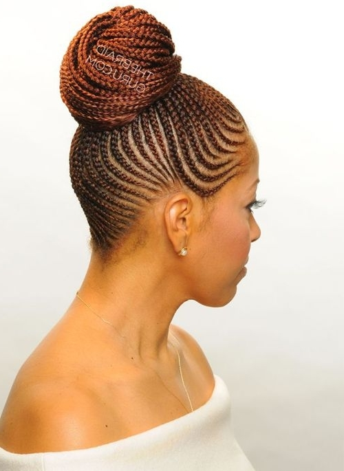 American Braided Bun Hairstyles To Inspire You How To Remodel Your Hair For Current Black Braided Bun Updo Hairstyles (View 9 of 15)