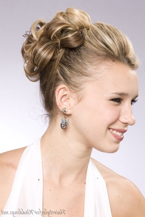Gallery Of Wedding Updo Hairstyles For Medium Hair View 13 Of 15