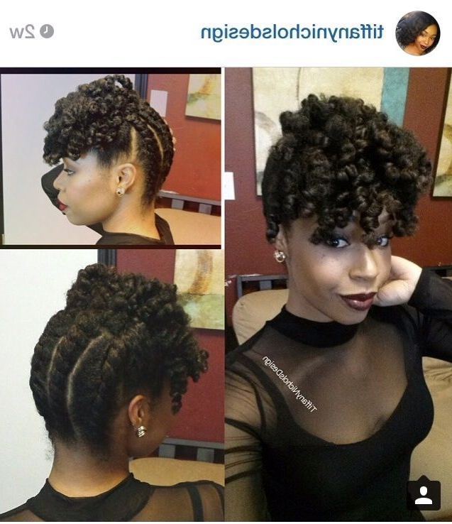 Back To Front Chunky Two Strand Twist + Curly Bang | Natural Hair With Best And Newest 2 Strand Twist Updo Hairstyles (View 5 of 15)