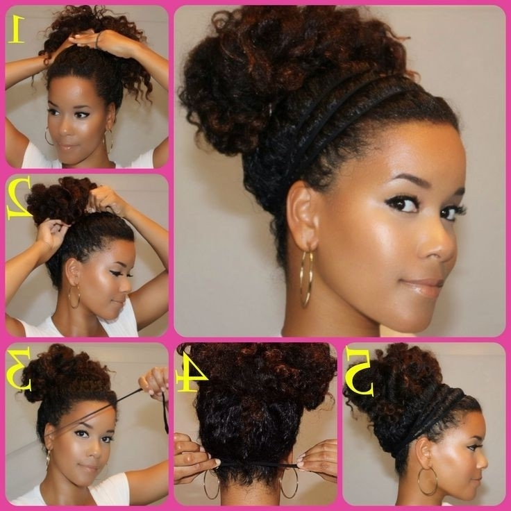 Back To School Inspired Hairstyles For Naturally Curly Hair With Recent Naturally Curly Hair Updo Hairstyles (View 7 of 15)