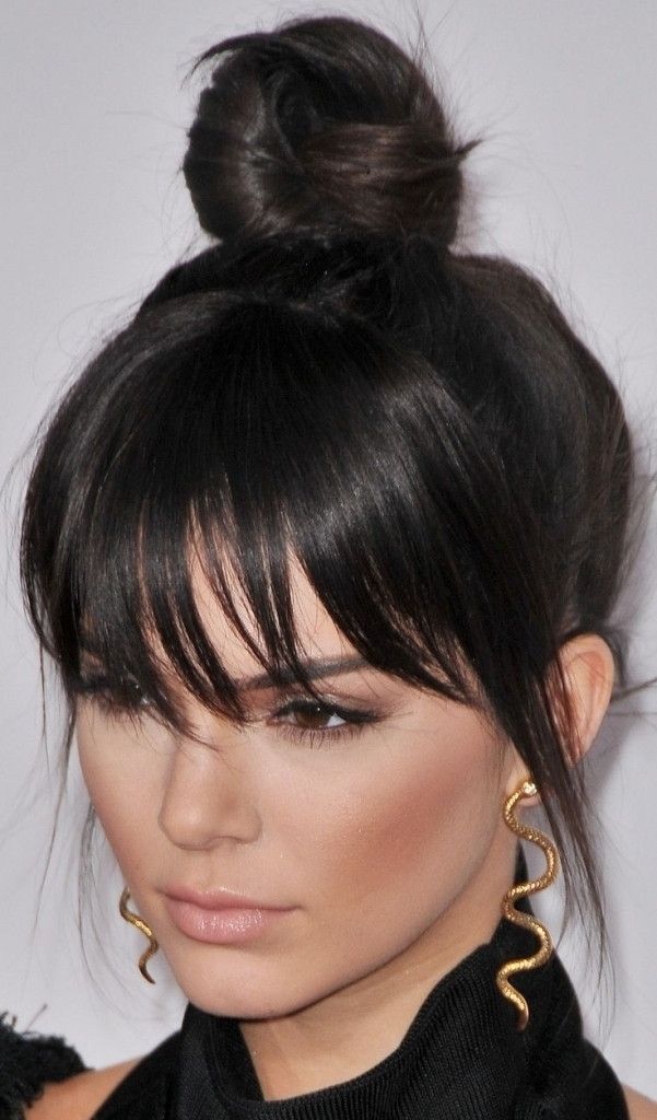 Bangs Haircut 2016 Updo Hairstyles With Fringe Black Hair Collection Inside 2018 Updo Hairstyles With Fringe Bangs (View 6 of 15)