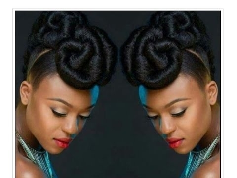 Beautiful Beautiful Beautiful Natural Hair Updo – Youtube Intended For Most Popular Natural Hair Updo Hairstyles (View 5 of 15)