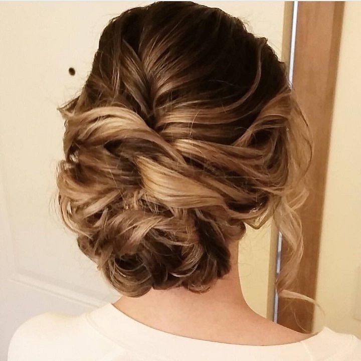 Beautiful Messy Updo Wedding Hairstyle For Romantic Brides | Messy For 2018 Loose Updos For Long Hair (View 5 of 15)