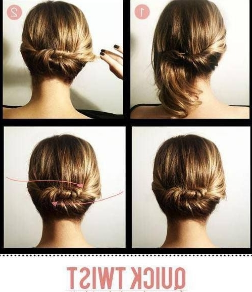 Beautiful Quick Romantic Updo For Short To Medium Length Throughout Newest Quick Updos For Medium Length Hair (View 7 of 15)