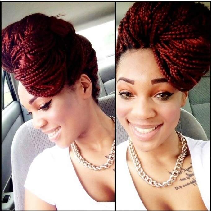Beauty: 10 Braids Hairstyles For This Season | Kamdora In Recent Single Braid Updo Hairstyles (View 8 of 15)