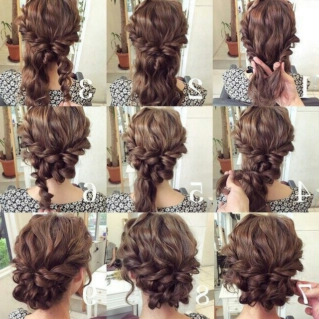 Bello! Cabello Rizado …   Pinteres… Within Newest Homecoming Updo Hairstyles For Short Hair (View 8 of 15)