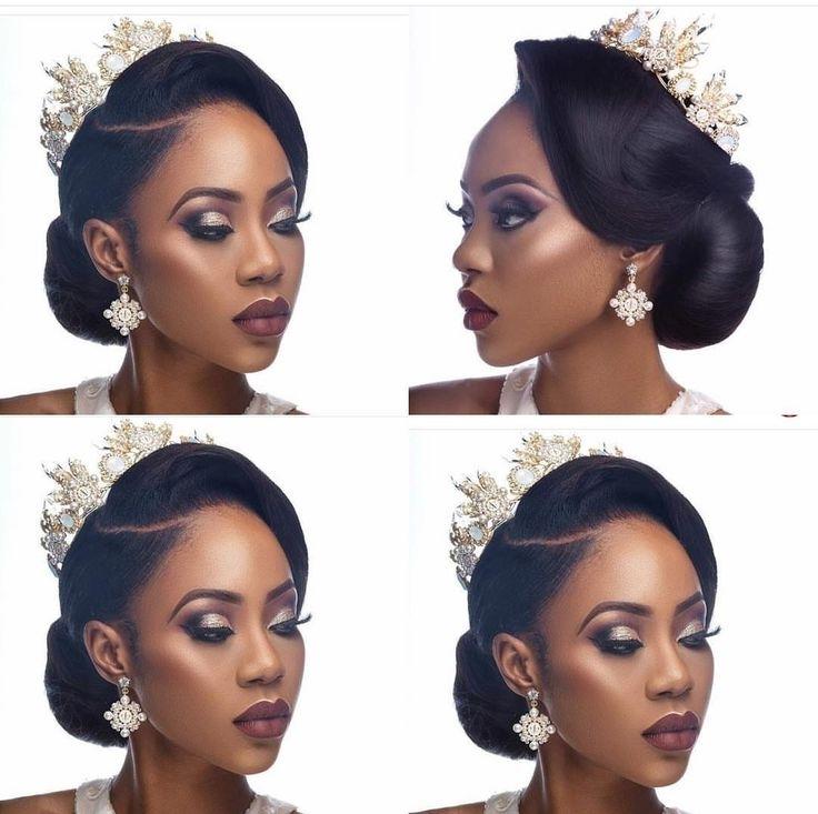 Best 25 Black Wedding Hairstyles Ideas On Pinterest Black Hair Black Inside Most Up To Date Updo Hairstyles For Weddings Black Hair (View 5 of 15)