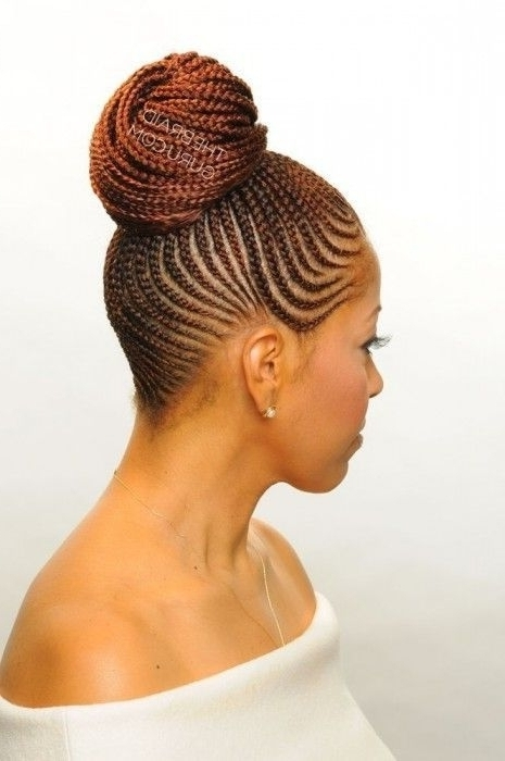 View Gallery Of Cornrow Updo Hairstyles Showing 12 Of 15 Photos