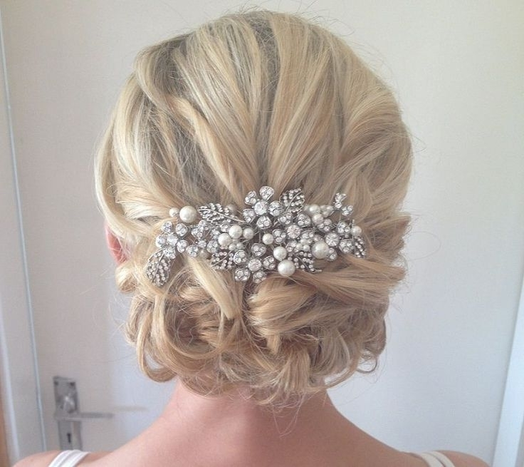 Best 25 Medium Wedding Hair Ideas On Pinterest Bridesmaid Hair With Most Current Wedding Updos For Medium Hair (View 7 of 15)