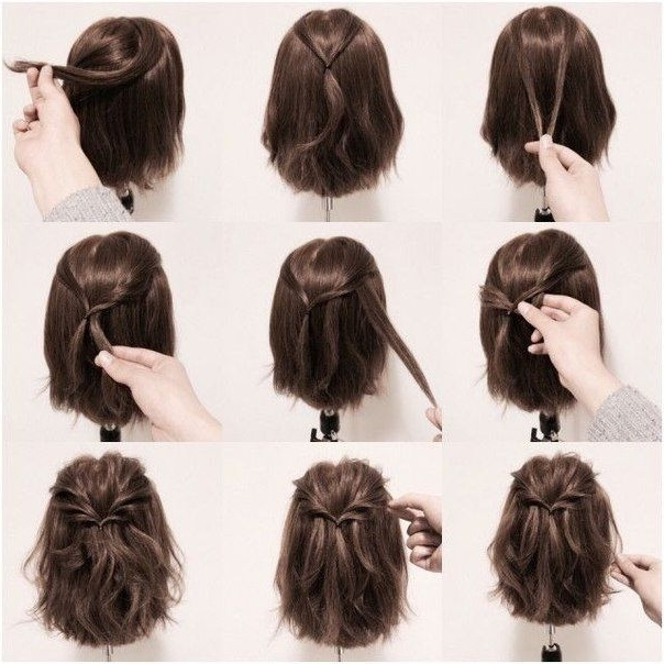 Best 25 Short Hair Hairdos Ideas On Pinterest Hairstyles For Cute With Regard To Latest Cute Updos For Short Hair (View 4 of 15)