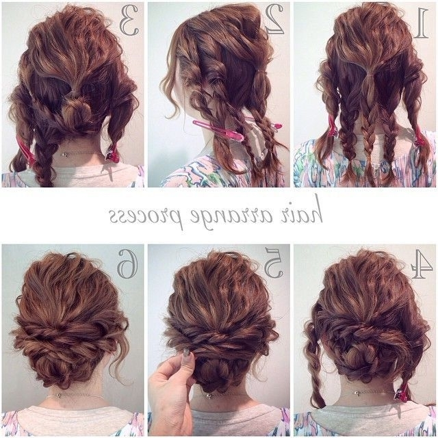 Best 25 Updos For Curly Hair Ideas On Pinterest Easy Curly Updo In Most Popular Easy Updos For Wavy Hair (View 3 of 15)