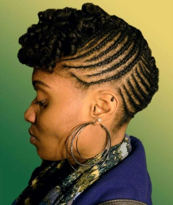 Best Black Braided Updo Hairstyles – African American Braided Updo Pertaining To Best And Newest African Cornrows Updo Hairstyles (View 14 of 15)